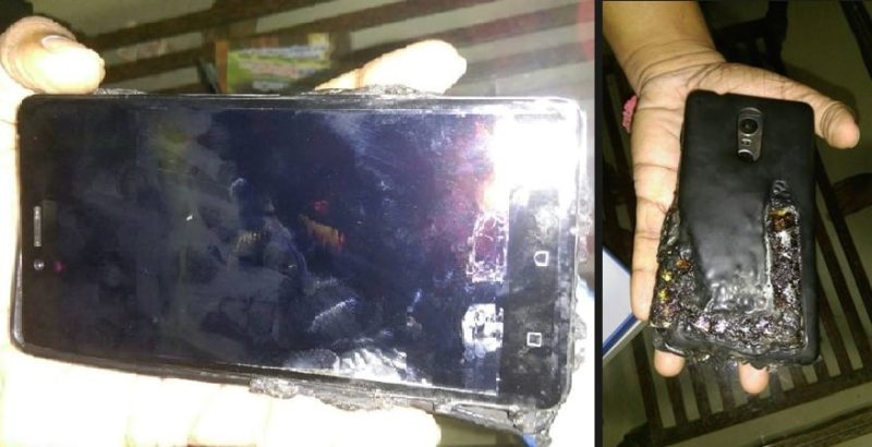Lenovo K6 Note explodes and catches fire in pocket