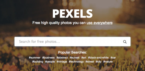 Best Search Engine for Images 2018: Pexels