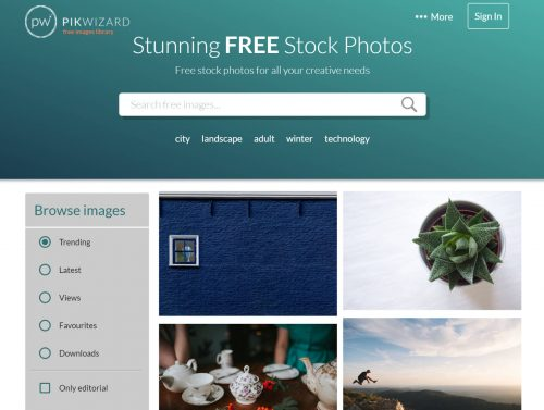 Best Search Engine for Images 2018: PikWizard