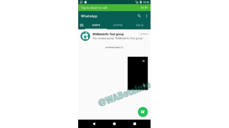 Whatsapp PiP (Picture-in-Picture) for video calling feature