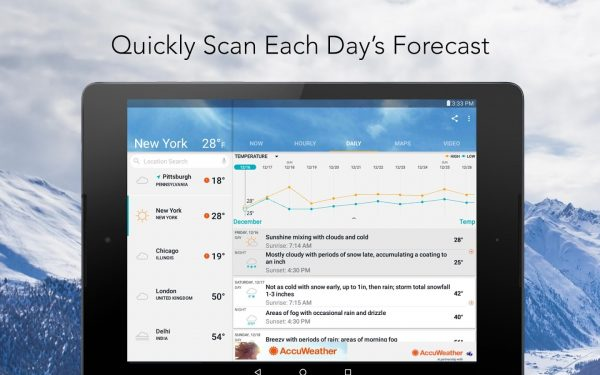 AccuWeather: best Christmas apps for Android