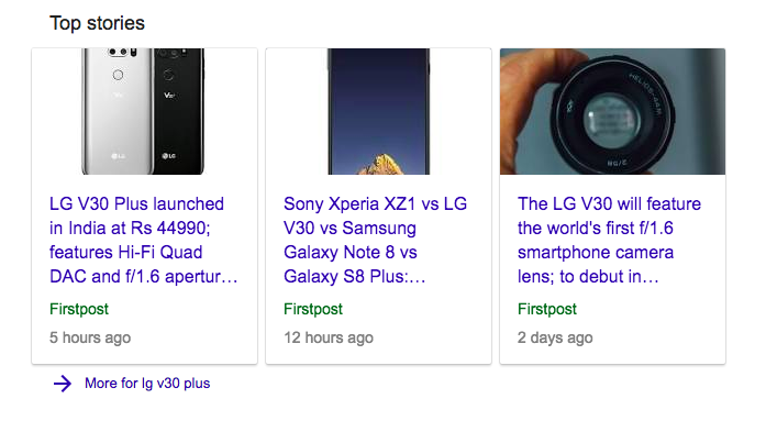 Google Top Stories issues