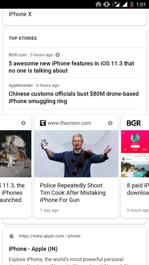 Google Top Stories fake news problem