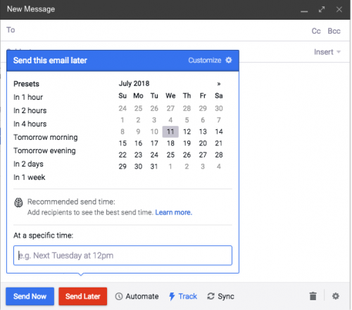 Mixmax tool enables you to schedule emails